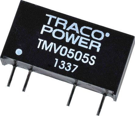TRACOPOWER TMV 1W Isolated DC-DC Converter Through Hole, Voltage in 4.5 → 5.5 V dc, Voltage out 5V dc
