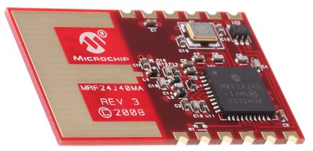 Microchip Zigbee Transceiver 2400MHz to 2.48GHz 12-Pin Module