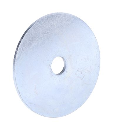 Bright Zinc Plated Steel Mudguard Washer, M6 x 40mm, 1.5mm Thickness