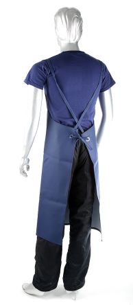 Chemsol Hygiene Navy EPVC Chemical Resistant, Food Safe Reusable 1.07m Apron product photo