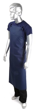 Alpha Solway Chemsol Hygiene Navy EPVC Reusable Apron, Chemical Resistant, Food Safe 1.22m