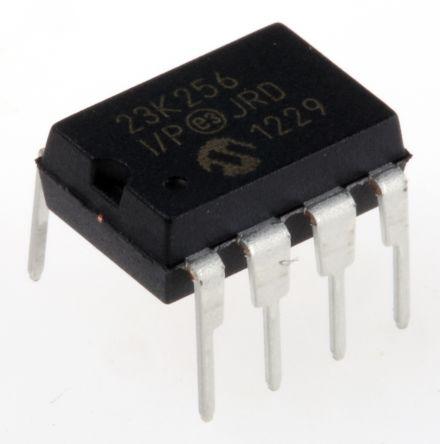 Microchip SRAM Memory, 23K256-I/P- 256kbit