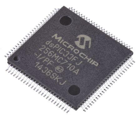 Microchip dsPIC33FJ256MC710A-I/PF, 16bit DSP 40MIPS 256 kB Flash TQFP 100-Pin