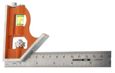 Bahco 150 mm, 6in Stainless Steel Combination Square