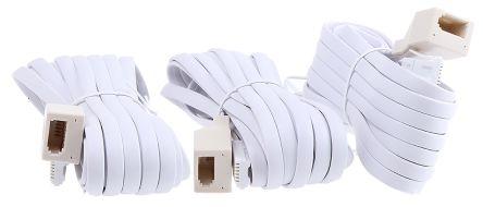 White 5m Telephone Extension Cable UK Plug UK Jack product photo