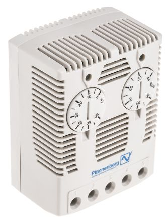 Enclosure Thermo Hygrostat, Changeover, 0 -> +60°C, 40 -> 90%RH, 230 V ac/dc product photo