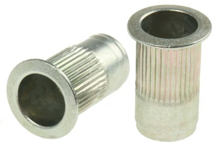 AVK Plain, M6 Insert AVKALS3T-610-6.6, 12.7mm Diameter 10mm Depth 9.65mm
