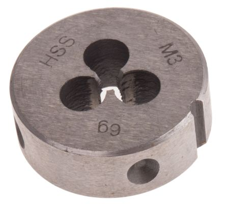 DIN HSS steel die,M3 0.5mm pitch,25x9mm