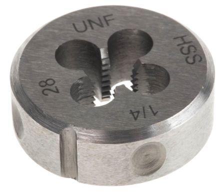 HSS steel die,1/4 UNF 1in OD, DIN223