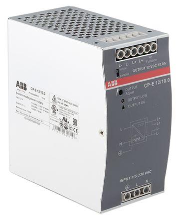 CP-E Switch Mode DIN Rail Panel Mount Power Supply, 120W, 12V dc/ 10A