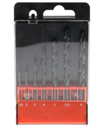 RS PRO 7 piece HSS Jobber Drill Set 1.5mm to 6mm