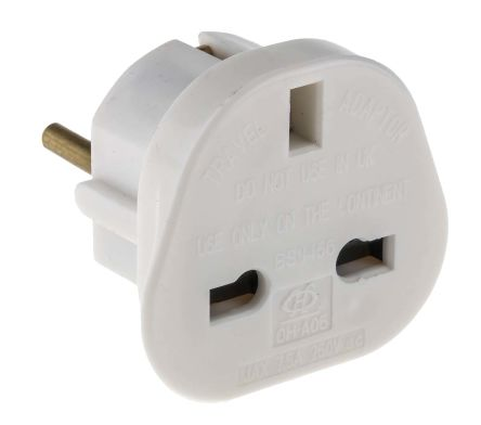 Rs Pro Uk To Europe Plug Adapter With European Plug And