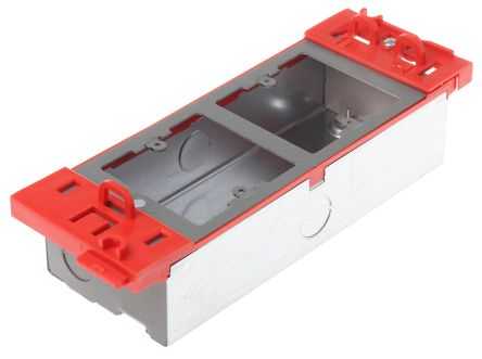 MK Electric Grey Floor Box Data Module, 2 Compartments
