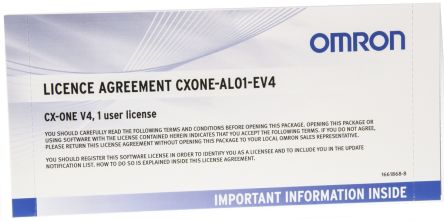 Omron Software Licence for use with CX-ONE V4