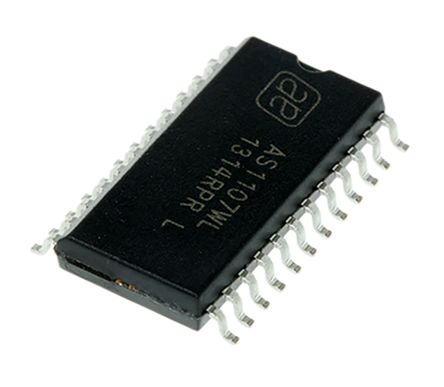 ams AG AS1107WL, LED Driver, 8-Digits 56-Segments, 5 V, 24-Pin SOIC W