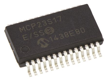 Microchip 16-Channel I/O Expander Serial-SPI 28-Pin SSOP, MCP23S17-E/SS