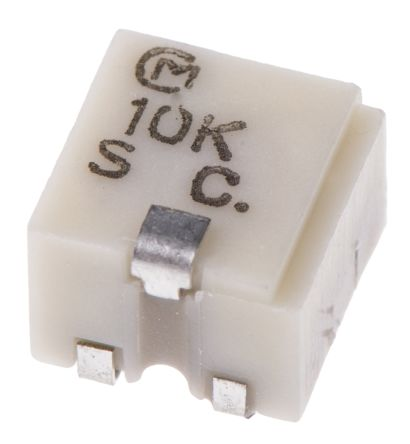 10kΩ, SMD Trimmer Potentiometer 0.25W Top Adjust Bourns, PVG5