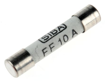 Metrix Multimeter Fuse, 10A, 600V, 6.3 (Dia.) x 32mm, 6.3mm