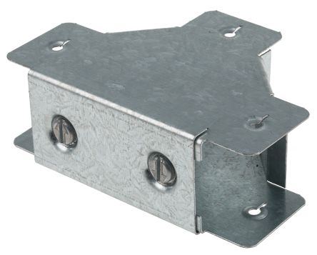 rs pro galvanised steel 50 x 50mm lighting trunking t bend outside