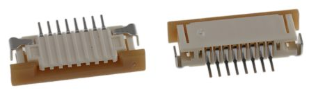Molex Easy-On 52271 Series 1mm Pitch 8 Way Right Angle SMT Female FPC Connector, ZIF Bottom Contact