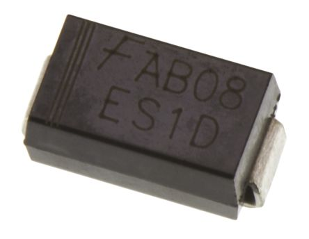 ON Semi 200V 1A, Silicon Junction Diode, 2-Pin DO-214AC ES1D
