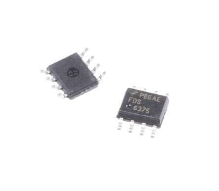 FDS6375 P-Channel MOSFET, 8 A, 20 V PowerTrench, 8-Pin SOIC ON Semiconductor
