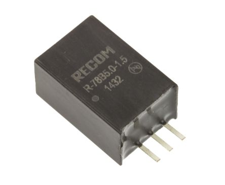 Recom Switching Regulator, 6.5 → 18 V, 8 → 18 V Input, 5V Output, 1.5A