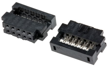 Amphenol FCI MINITEK Series 2mm Pitch Right Angle Cable Mount IDC Connector, Socket, 10 Way, 2 Row
