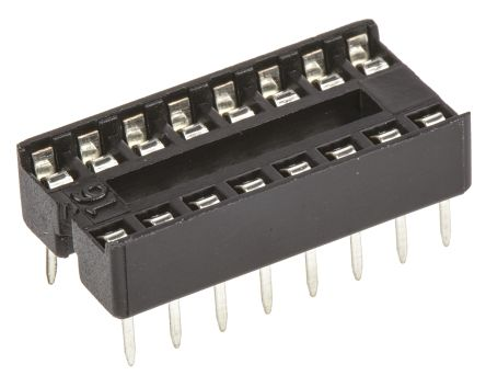 ASSMANN WSW 2.54mm Pitch Vertical 16 Way, Through Hole Stamped Pin Open Frame IC Dip Socket, 1A