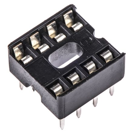 ASSMANN WSW 2.54mm Pitch Vertical 8 Way, Through Hole Stamped pin Open Frame IC Dip Socket, 1A