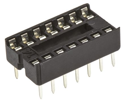 ASSMANN WSW 2.54mm Pitch Vertical 14 Way, Through Hole Stamped Pin Open Frame IC Dip Socket, 1A