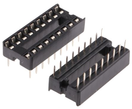 ASSMANN WSW 2.54mm Pitch Vertical 18 Way, Through Hole Stamped pin Open Frame IC Dip Socket, 1A