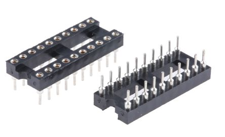 ASSMANN WSW 2.54mm Pitch Vertical 20 Way, Through Hole Turned pin Open Frame IC Dip Socket, 3A