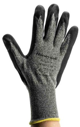 Honeywell Nylon Nitrile-Coated General Purpose Gloves, size 9, Black