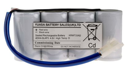 Yuasa 4.8V 4000mAh NiCd Emergency Lighting Battery Pack  sc 1 st  RS Components & 4DH4-0LAP3 | Yuasa 4.8V 4000mAh NiCd Emergency Lighting Battery ... azcodes.com