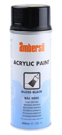 Ambersil 400mL Black Gloss Spray Paint