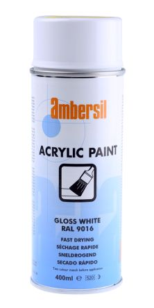 31653 Ad Ambersil Acrylic Paint Gloss White Ral9016 400ml 678 3098 Rs Components