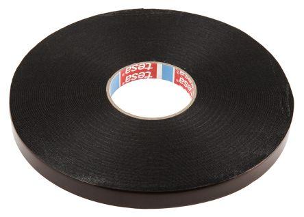 Tesa 62934 Black PE Foam Double Sided Tape, 0 8mm Thick , 19mm x 50m