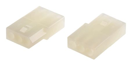"03-06-1032 - Female Connector Housing - STANDARD .062"", 3.68mm Pitch, 3 Way, 1 Row product photo"