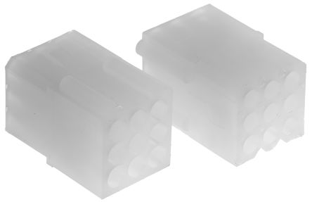 "03-06-1092 - Female Connector Housing - STANDARD .062"", 3.68mm Pitch, 9 Way, 3 Row product photo"