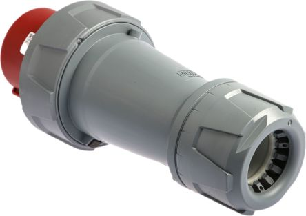 Mennekes PowerTOP Series, IP67 Red Cable Mount 3P+E Industrial Power Plug, Rated At 125A, 400 V