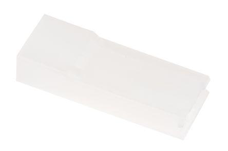 TE Connectivity AMP FASTON Series, 1 Way Nylon 66 Crimp Terminal Housing, 6.35mm Tab Size, Natural