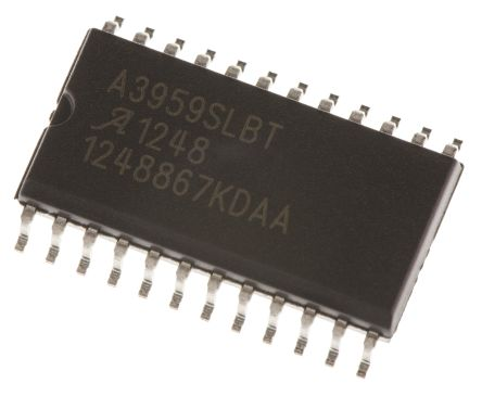 Allegro Microsystems A3959SLBTR-T, Brushed DC Motor Driver, 50 V 3A 24-Pin, SOIC W