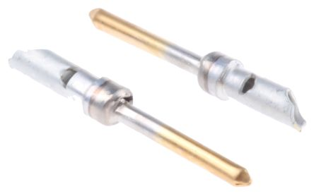 TE Connectivity AMPLIMITE HDP-20 Series size 20 Male Crimp Crimp Pin  Connector, Gold over Nickel Plated Signal, 18 AWG