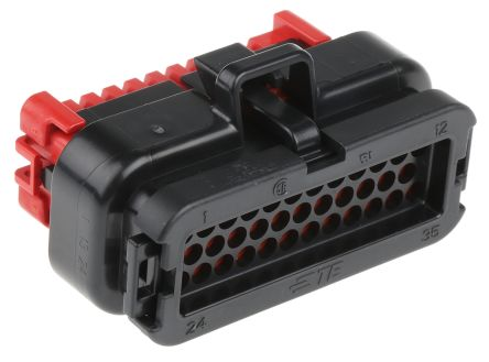 TE Connectivity, AMPSEAL 3 Row 35 Way Cable Mount Socket Housing, with Crimp Termination Method