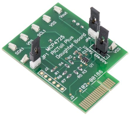 Microchip MCP4725DM-PTPLS PICtail Plus 12-bit DAC Daughter Board for MCP4725 for Microchip Explorer 16