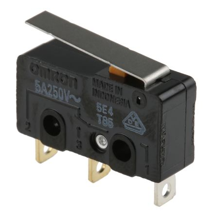 SPDT-NO//NC Hinge Lever Subminiature Micro Switch 5 A @ 125 V ac