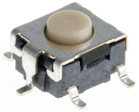 Button Tact Switch, SPST-NO 50 mA @ 24 V dc 0.8mm