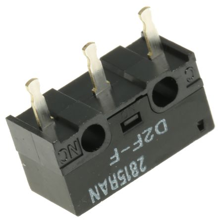 SPDT-NO/NC Pin Plunger Microswitch, 1 A @ 125 V ac