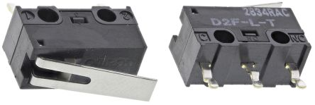 SPDT-NO/NC Hinge Lever Microswitch, 3 A @ 125 V ac